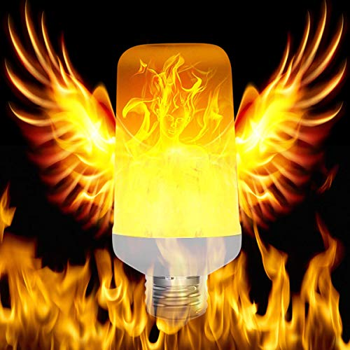 LED Flame Bulb Flickering Fire Effect Upside Down E26 5W Warm Lighting Vintage Atmosphere Holiday, Bar, Festival Decor