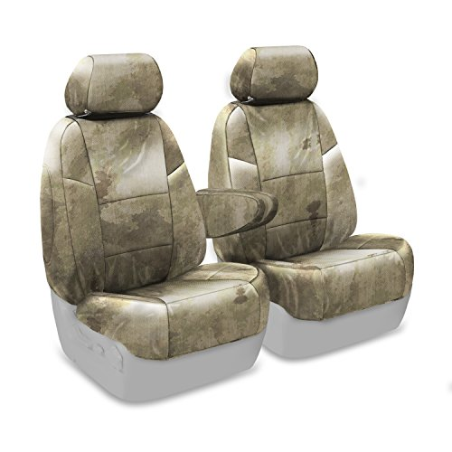 Coverking Custom Fit Center 50/50 Bucket Seat Cover for Select GMC Yukon XL 1500 Models - Cordura/Ballistic A-TACS Camo (Arid/Urban)