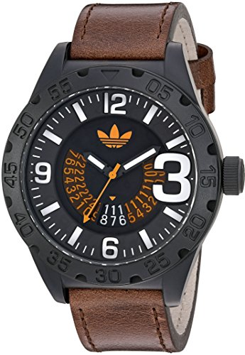adidas-Mens-Newburgh-Quartz-Rubber-and-Leather-Casual-Watch-ColorBrown-Model-ADH3191