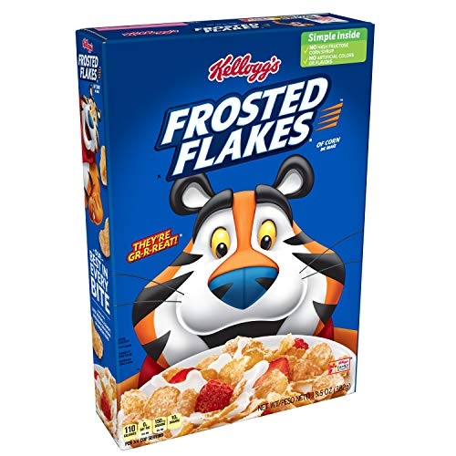 Kellogg's Fat-Free Breakfast Cereal, Frosted Flakes, 13.5 Ounce(Pack of 16) by Kellogg's (Image #6)