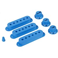 MagiDeal Dark Blue Guitar Pickup Cover And Knobs Switch Tip Set