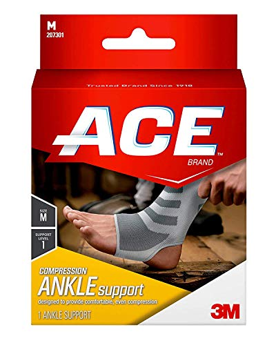 """Ace Woven Cotton Ankle Brace - Medium (8.25-10"""") [Health and Beauty]"""