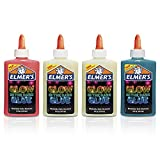 Elmer's Glow-in-the-Dark Liquid Glue, Great For Making Slime, Washable, Assorted Colors, 5 Ounces Each, 4 Count