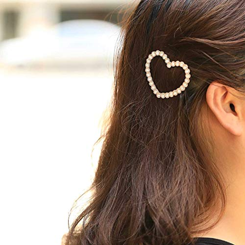 (UPSTONE Crystal Hair Clips Heart Fashion Hair Pins Hair Barrettes Jewelry Headpiece Bridesmaid Hair Clip for Women and Girls. (Heart))