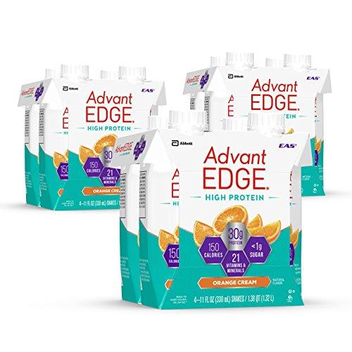 EAS AdvantEDGE High Protein Ready-to-Drink Protein Shakes, 30 grams of Protein, Orange Cream, 12 (Eas Protein Shake)