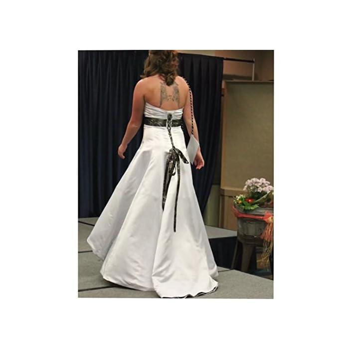 cc3ec0e060dc5 ... Strapless Hi-Lo Camo Wedding Dress A-Line Camo Wedding Gown with Sash  and Sweep Train Camo Bridal Dresses. ; 