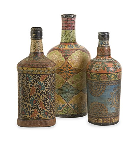 Glass Painted Vase (IMAX 73105-3 Circus Bottles, Set of 3)