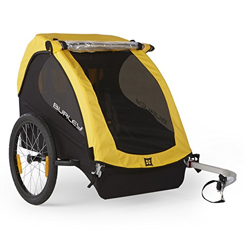 Burley Design Bee Bike Trailer, Yellow (Baby Bike Trailer)
