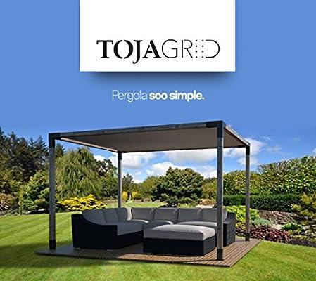 Toja Grid Pergola 12 x 12 Kit – pantalla en color blanco: Amazon ...