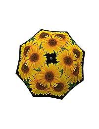 La Bella Umbrella Sunflower Designer Umbrella in Gift Box, Manual Open/Close Folding