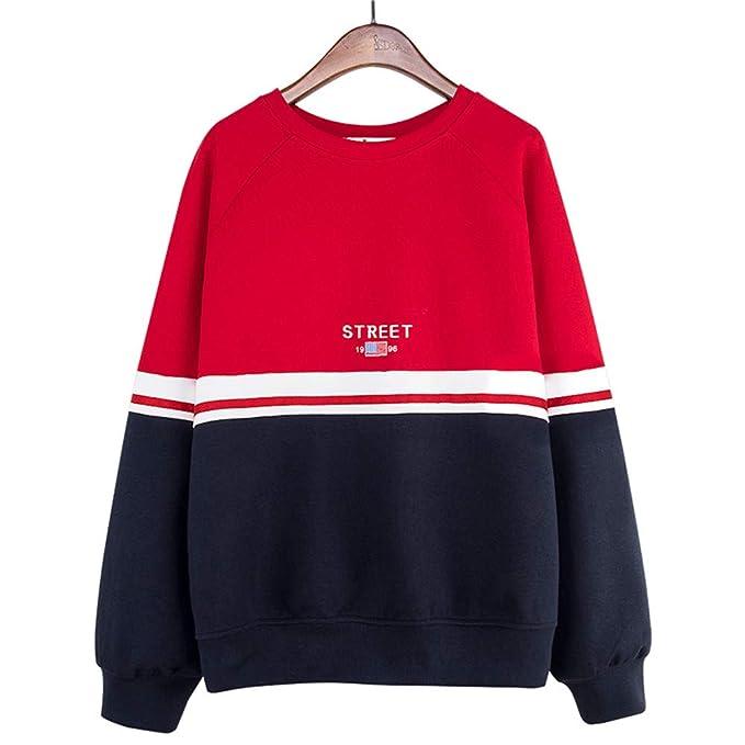 Sudaderas 2018 Otoño Casual Contraste de Viento Color Stitching Letter Cuello Redondo Loose Student Pullover Sweater