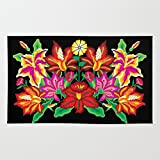 Society6 Mexican Exotic Flowers Rug 2' x 3'
