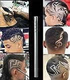 Hair Tattoo Trim Styling Face Eyebrow Shaping Device, JBLCC Engraved Pen + 10 Blades + Tweezer Hair Styling Eyebrows Beards Razor Tool/ DIY Hair Tool
