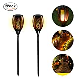EleLight 2Pack Solar Torch Lights, 96 LEDs Waterproof Flickering Flames Landscape Lawn Lamps with Dancing Flames for Outdoor Garden Patio Yard Pathway Pool De