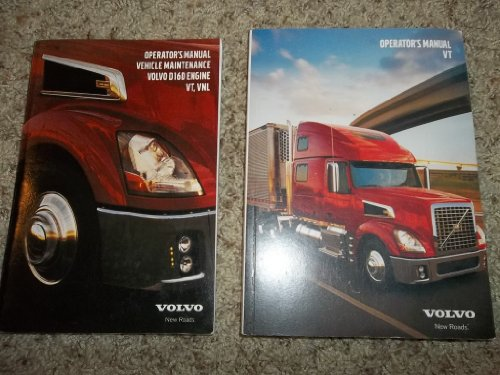 Volvo Truck Operator's Manual Vehicle Maintenance D16D Engin VT , VNL (2 Book Set)