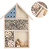 Wooden Insect Bee House, Wooden Insect House Durable Wood Bug Room Hotel Shelter Garden Decoration Box for The Lawn Garden Tree