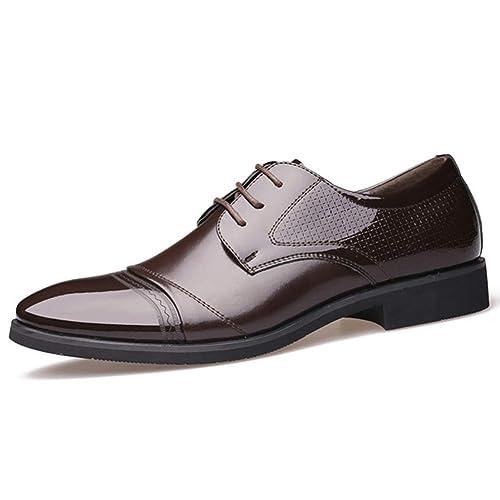 Calzado Casual en Punta para Hombre con Cordones Zapato bajo ...