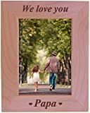 CustomGiftsNow We Love You Papa - Engraved Wood Picture Frame (5x7 Vertical)