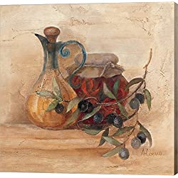Tuscan Table IV by Albena Hristova Canvas Art Wall Picture, Gallery Wrap, 12 x 12 inches