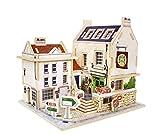 Emousport 3D Wood Puzzle DIY Model Kids Toy British bar House Puzzle,puzzle 3d building,wooden puzzles Kids Hand Worker