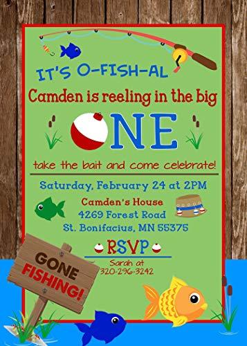 - Fishing Big One First Birthday Invitation