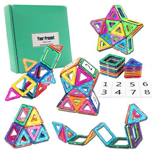IHUIXINHE Magnetic Building Blocks, Educational Toys Magnet Building Block Tiles Set for Imagination Skill, Learning Educational Toys for Baby Toddlers, 28pcs (Color Random)