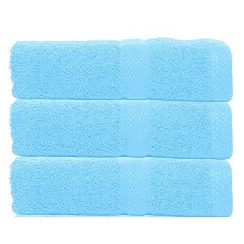 Set Of 3 Luxury Jumbo Large Size Egyptian Cotton Beach Bath Sheet Towels Bale Set Bathroom Towel Gift 86 x 145cm (Black) Fine Linen