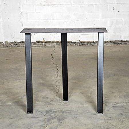 Untergestell für Tischplatten im Retro Vintage Design, Tischuntergestell Industrie Design, Metall Stahl Esstisch Tischgestell Tischbein