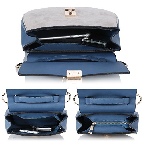 Mini for Chain Leather Women Cross Wristlet Body Blue Clutch White Handbag Small Bags Shell PU Wwyq4vt88S