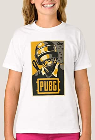 T-Shirt With Design for Girls , Pubg Game