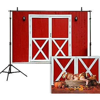 Amazon Com Gya 7x5ft Cartoon Farm Photography Backdrop Red