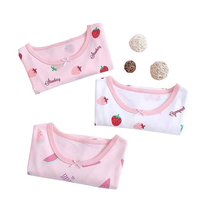 MUKATU Kids Girls Fruit Nightgowns 100/% Cotton Sleepwear Nightdress Long Sleeve Sleepwear