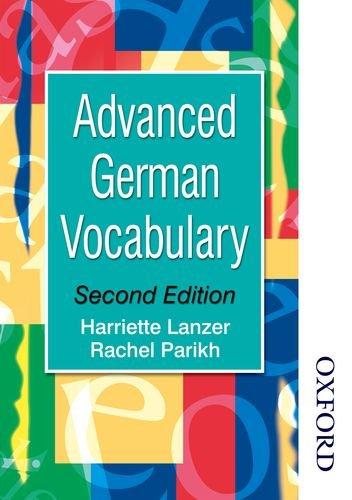 Advanced German Vocabulary (Advanced Vocabulary): Amazon de