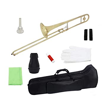 T-XYD Alto Trombón Instrumento de Viento Plano de latón B ...