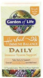 Garden of Life Herbal Immune Balance Daily, 120 Caplet