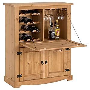 IDIMEX Meuble Bar à vin Tequila Armoire comptoir avec Range Bouteilles vin spiritueux et Range Verres, bahut de Style…