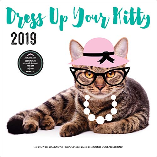 Dress Up Your Kitty 2019: 16-Month Calendar - September 2018 through December 2019]()
