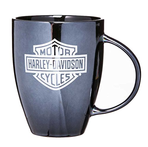 Harley-Davidson Ceramic Coffee Mug, Bar & Shield Bistro 18 oz Black 3BLM4900