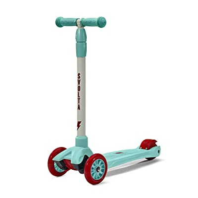 SVOLTA Mega 3-Wheel Scooter for Kids - Red and Aqua : Sports & Outdoors