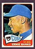 Ernie Banks 1965 Topps Reprint Card w/ Original Back (Cubs)