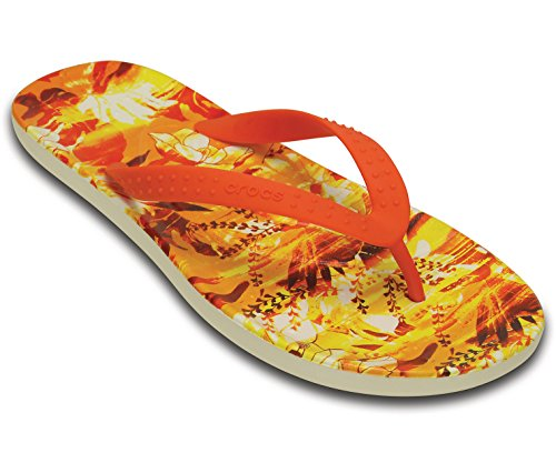 Crocs Unisex Volwassene Chawaii Tropical Ii Flip Tangerine