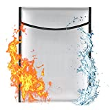 """LingsFire Fireproof Safe Bag Fire Resistant Document Money Bag Waterproof Cash Envelope Holder Heavy Duty Non-Itchy Silicone Coated Safe Document Organizer Pouch Storage for Jewelry Passport (15""""x11"""")"""