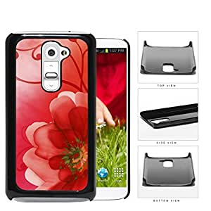 Red Gradient Flower Petals Hard Plastic Snap On Cell Phone Case LG G2