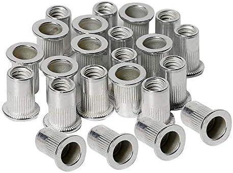 Amazon Com 50pcs 1 4 20 Aluminum Rivet Nuts Threaded Inserts Rivnuts Nutsert 1 4 20unc Home Improvement