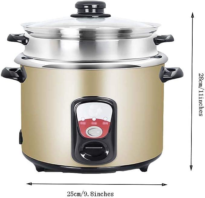 AQSG Cocina Manual Vapor Cesta Manijas Cocción Calefacción Mantener Caliente Duradera Aleación de Aluminio Interior Olla: Amazon.es: Hogar