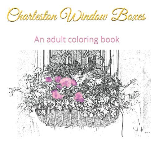 Charleston Window - Charleston Window Boxes: An adult coloring book