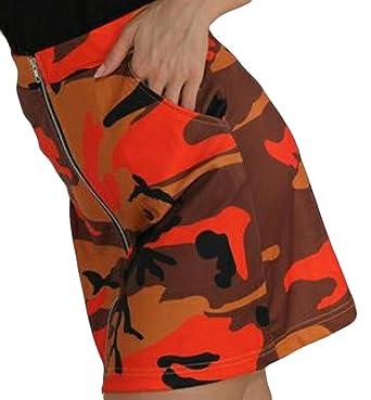 ChengZhong Faldas de Camuflaje para Mujer, Falda con Estampado de ...