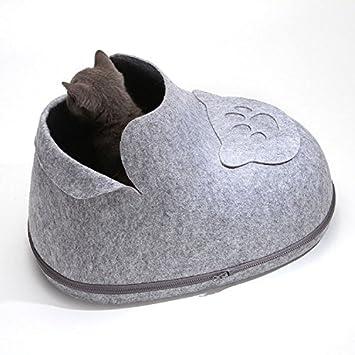 dfsdfc perro pequeño gato acogedor mascotas de iglú cama kuschelhöhle para gatos, cojín Lavable: Amazon.es: Productos para mascotas