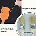 Silicone Basting Brush Pastry Brush Set (Set of 4), Heat Resistant Brush and Dishwasher-safe Perfect for Cooking, Baking, Grilling, Basting and Marinating- Colourful 11 Basting Brush Set: Whether baking, grilling, basting and marinating, barbecue and family gatherings, silicone oil brush a large and a small, fully meet the cooking needs. 100% Food Grade Silicone: The brushes are made with a high performance 100% food grade silicone, with a steel core inside, FDA approved & BPA free. Don't Need to worry about toxins leaching into your food. Heat Resistant Brush: It can withstand heat up to 600 degrees Fahrenheit. It is safe to use for BBQ, baking, even cooking in a frying pan.