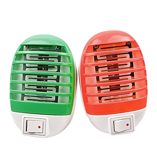 WALLER PAA LED Electric Mosquito Fly Pest Bug Insect Trap Zapper Killer Night Lamp US - With Logo Guy Mustache